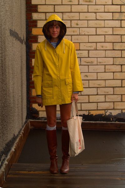 thrifted jacket - Rodarte for Target shirt - thrifted shorts - vintage boots - v