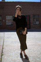 Call it Spring wedges - vintage sweater - vintage skirt