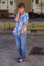 Sky-blue-jordache-jeans-light-blue-blouse-black-flats