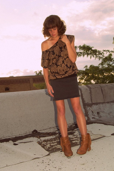 vintage shirt - vintage jordache skirt