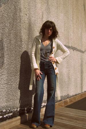 vintage cardigan - Juicy Couture jeans