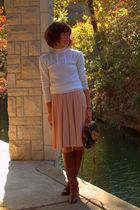 vintage boots - vintage dress - vintage sweater