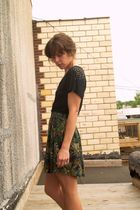 Target blouse - vintage skirt