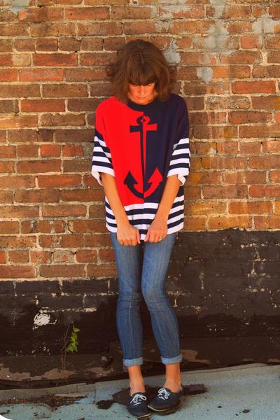 BDG jeans - vintage bass shoes - vintage sweater