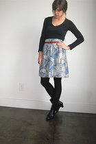 vintage boots - Forever 21 shirt - UO skirt