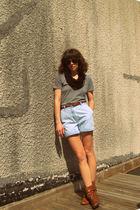 American Apparel t-shirt - Goodwill shorts