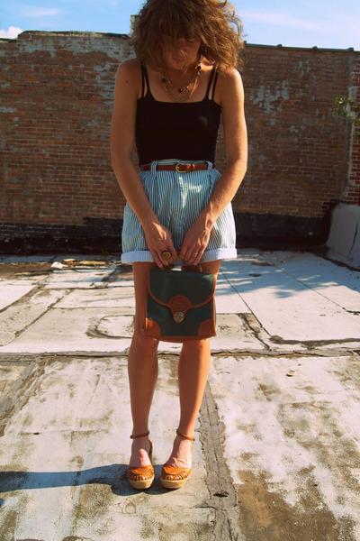 vintage shorts - vintage dooney and bourke bag