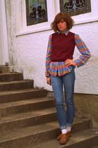 BDG jeans - vintage blouse - vintage sweater