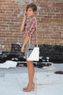 Vintage-bag-nude-heels-leopard-vintage-skirt-plaid-vintage-blouse
