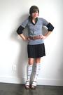 Gap-dress-american-apparel-t-shirt-vintage-belt-vintage-shoes