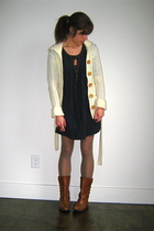 H&M dress - vintage sweater - vintage boots