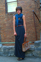 thrifted dress - Urban Outfitters scarf - vintage Dooney & Bourke bag