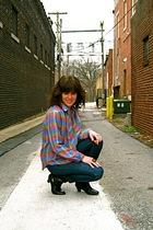 vintage blouse - vintage boots - Seven For All Mankind jeans