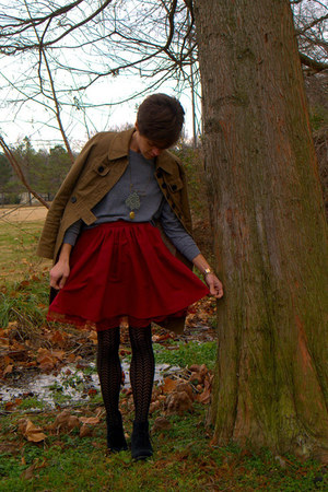 Gap skirt - Call it Spring boots - jacket - American Apparel shirt