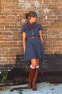 Vintage-dress-vintage-scarf-vintage-boots