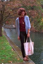 Topshop jeans - vintage shirt - vintage bag