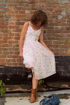 Steve Madden boots - vintage dress