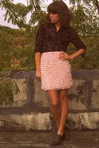 thrifted blouse - Target skirt