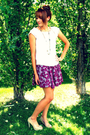 Forever 21 skirt - shirt - Forever 21 necklace - Fioni heels