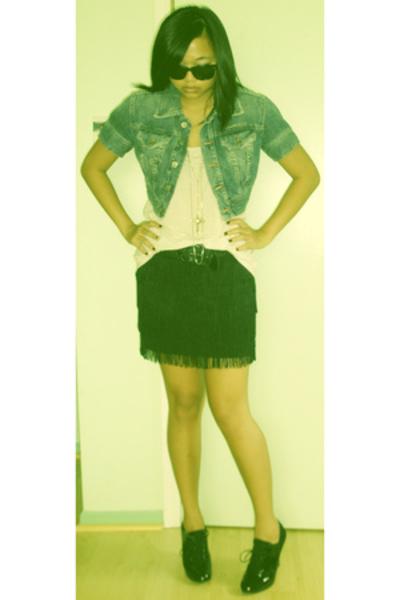 Diesel jacket - hm t-shirt - Express skirt - payless shoes