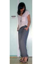 Zara pants - hm shirt - Jcrew belt - PROENZA SCHOULER shoes
