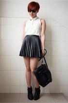 ivory H&M shirt - black Taobao bag - black Ray Ban sunglasses