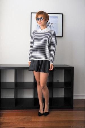 H&M sweater - H&M shirt - H&M skirt - Zara pumps