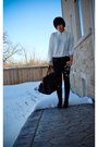 White-vintage-shirt-black-diy-studded-jeans-black-purse-black-forever21-bo