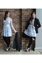 black wal-mart blazer - ivory Forever 21 dress