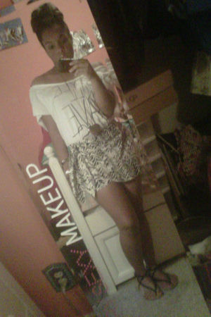 white Forever 21 top - white Forever 21 shorts - black Forever 21 shoes