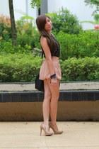 peach skirt Bugis Street Market skirt - polka dot Topshop top