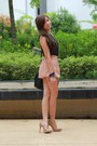 Polka-dot-topshop-top-peach-skirt-bugis-street-market-skirt