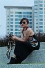 Black-bootsies-h-m-trend-boots-maxi-d-bugis-street-market-dress