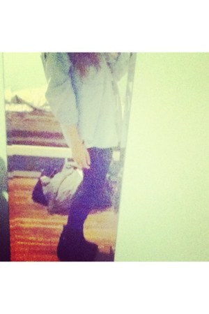 winners leggings - platform Aldo boots - denim my grandmother jacket