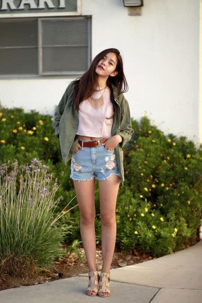 Light-blue-topshop-shorts