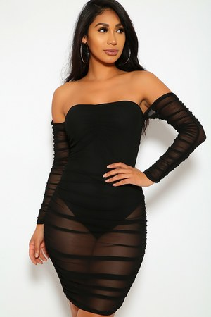 black AmiClubWear dress
