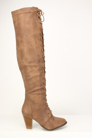 faux leather AmiClubWear boots