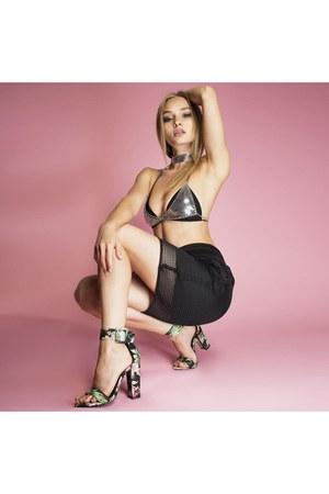 AmiClubWear bra - AmiClubWear skirt - AmiClubWear heels
