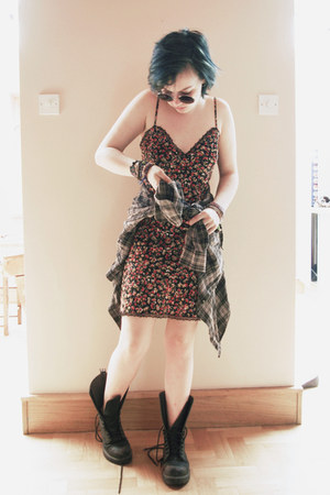 black floral TJ Maxx dress