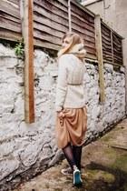 eggshell snood gifted accessories - tawny Primark dress - eggshell Topman jumper