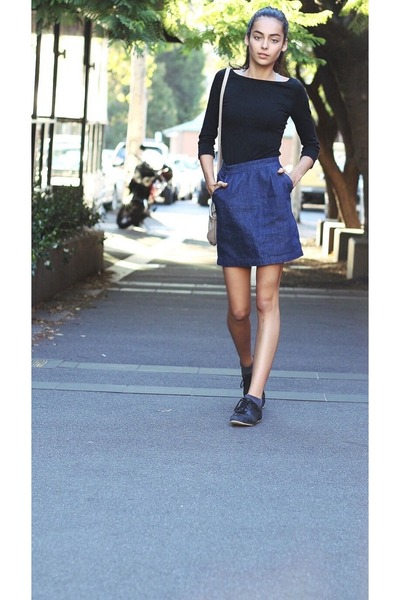 black tops blue asos skirts quot brands quot by aminaibrag