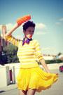 Yellow-thrifted-skirt-blue-agatha-ruiz-de-la-prada-wedges