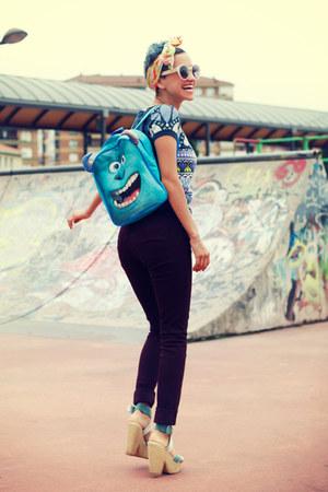 aquamarine backpack Primark bag - maroon Primark jeans