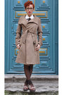 Dark-brown-oxfords-blanco-shoes-camel-mango-coat-ivory-vintage-blouse-dark
