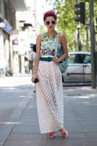 white sheer romwe pants - hot pink pepa loves heels