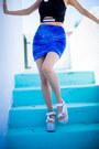 Blue-velvet-american-apparel-skirt-black-crop-top-top