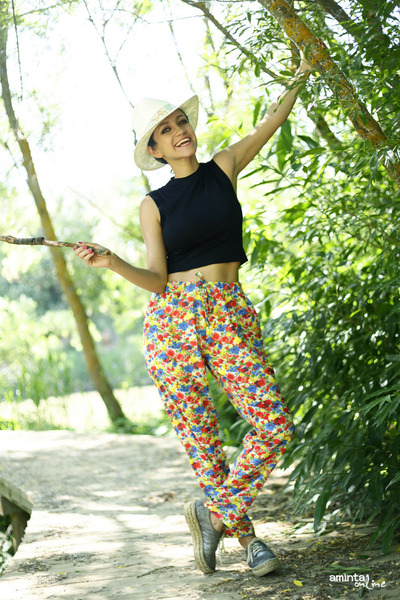 Meridiano Shoes shoes - old blouse - floral print nowIStyle pants