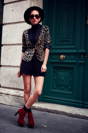 leopard print Lefties blazer - Cinderella Shop Online shoes - vintage shorts