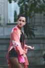 Black-asos-boots-salmon-kimono-vintage-jacket