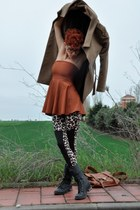 black Marypaz boots - black leopard print H&M leggings - tawny American Apparel